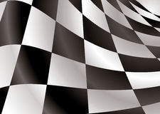 Checkered flag revs Stock Image