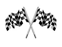 Checkered Flag, Chequered Flags Motor Racing Sports. Checkered Flag, Rippled black and white crossed Chequered Flag for start and Finish of a race stock illustration