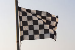 Checkered Flag and sky photo Royalty Free Stock Photography