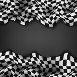 Checkered flag and space for your text inside background Stock Images