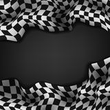 Checkered flag and space for your text inside background Royalty Free Stock Photography