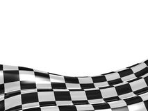 Checkered flag texture. Abstract design. 3D render Royalty Free Stock Images
