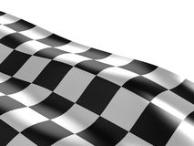 Checkered flag texture. Abstract design. 3D render Royalty Free Stock Photos