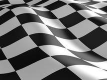 Checkered flag texture. Abstract design. 3D render Stock Photos