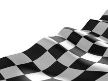 Checkered flag texture. Abstract design. 3D render royalty free stock photography