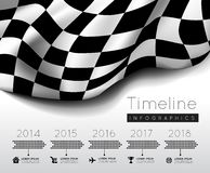 Checkered flag. With timeline infographic. Vector illustration Royalty Free Stock Photography