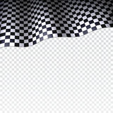 Checkered flag on transparent background Royalty Free Stock Photo