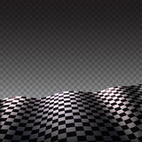 Checkered flag on transparent background Royalty Free Stock Images