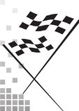 Checkered flag - vector. Auto racing checkered flag on a white background, vector Stock Image