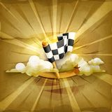 Checkered flag, vector background Royalty Free Stock Photos
