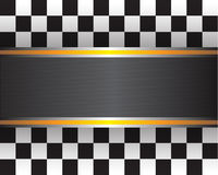 Checkered flag vector illustration. Royalty Free Stock Images