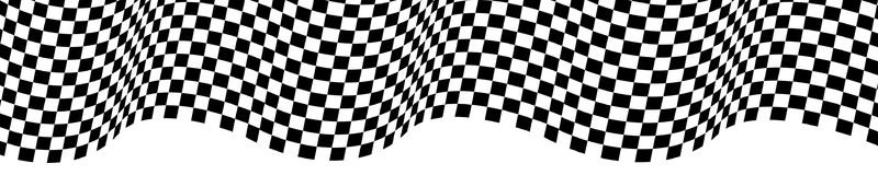 Checkered flag wave on white design for sport race championship background vector. Checkered flag wave on white design for sport race championship background Stock Illustration
