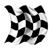 Checkered Flag waving Stock Image