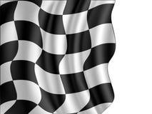 Checkered flag waving. Racing checkered flag waving,illustration Royalty Free Stock Image