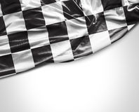 Checkered flag on white background Stock Photos