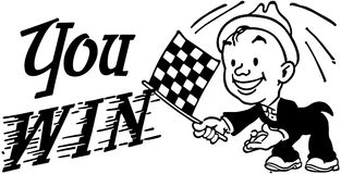 Checkered Flag You Win Royalty Free Stock Photos