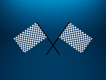 Checkered flags. 3d illustration of two crossed checkered flags Stock Images