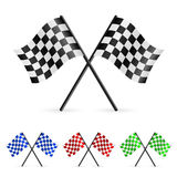 Checkered Flags. Set illustration on white background for design Stock Photo