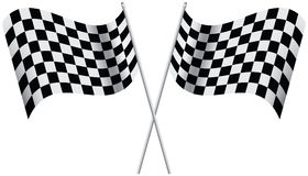 Checkered Flags. Isolated on white background. illustration Stock Photo