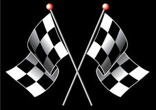 Checkered flags Stock Images