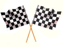 Checkered flags. Very beautiful three-dimensional illustration, figure Royalty Free Stock Image