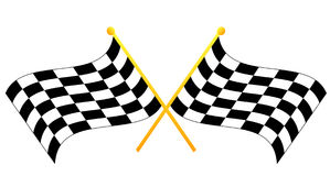 Checkered flags stock illustration