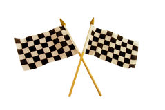 Checkered flags. That symbolize the finish line Royalty Free Stock Images