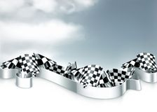 Checkered flags background. Computer illustration Royalty Free Stock Photos