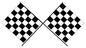 Checkered flags - Black and white racing flags Royalty Free Stock Image