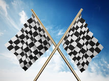 Checkered flags Stock Photos