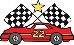 Checkered Flags Car Royalty Free Stock Photos