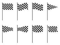 Checkered flags collection Royalty Free Stock Image