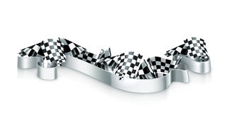 Checkered flags. Computer illustration on white background Stock Photos