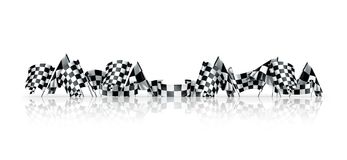 Checkered flags. Computer illustration on white background Stock Photo