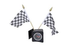 Checkered flags and guage Stock Photography