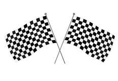 Checkered flags. Motocross racing flag - vector illustration Royalty Free Stock Photos