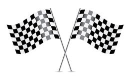 Checkered Flags (racing flags). Vector illustration Stock Image