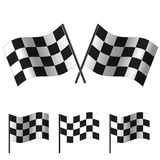 Checkered Flags (racing). Vector Royalty Free Stock Images