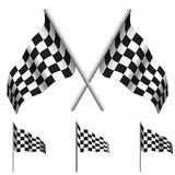 Checkered Flags (racing). Vector Stock Image
