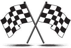 Checkered flags - reached the goal Royalty Free Stock Photos