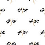 Checkered Flags seamless pattern. Checkered Flags Finish Flag seamless pattern Stock Photography