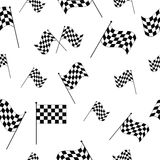 Checkered flags seamless pattern Stock Photography