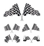 Checkered Flags set. Illustration on white background Royalty Free Stock Photo