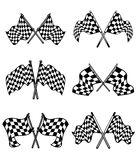 Checkered flags set Royalty Free Stock Photography