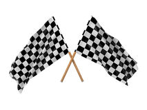 Checkered Flags. (Two Crossed Flags.) Royalty Free Stock Photography