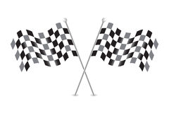 Checkered flags vector illustration stock Stock Photos