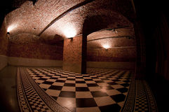 Checkered floor Royalty Free Stock Image