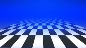 Checkered floor abstract background with blue color Royalty Free Stock Photo