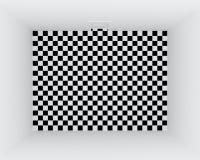 Checkered floor empty room vector illustration
