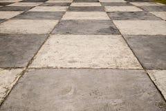 Checkered floor Stock Photos